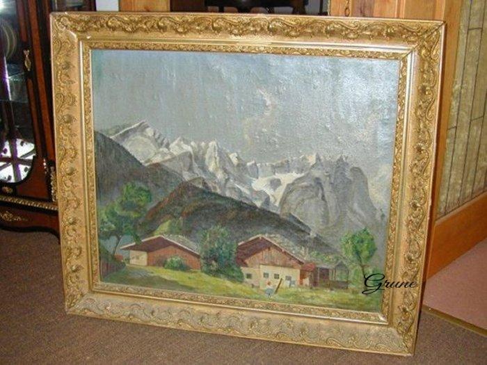 kuchenmobel um 1900 : ... Bauernhof Gebirge gerahmt - vermutlich um 1900 - Antiquit?ten & Kunst